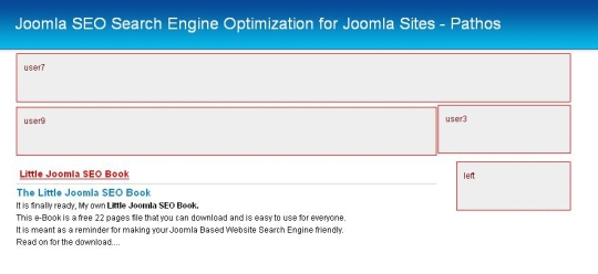 Joomla Module positions in a Template